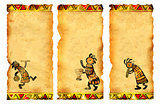 Set of banners with African traditional patterns