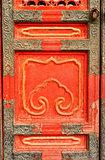 Ancient door in Forbidden City, Beijing, China