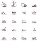 Construction machinery icon set