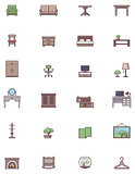 Domestic furniture icon set