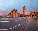 Queen Elizabeth Clock Tower and Westminster Palace in the Mornin