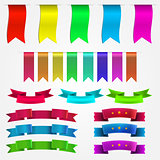 Vector illustration of colored ribbons set