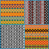 Four seamless ornaments on African ethnic motifs