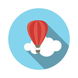 Flat Design Concept Balloon Vector Illustration With Long Shadow