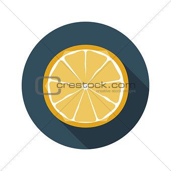 Flat Design Concept Orange Vector Illustration With Long Shadow.
