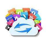 Cloud Computing Concept Vector Illustration