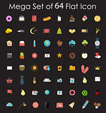 Set of Flat Design Icons Vector Illustration.