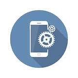 Modern Flat Mobile Icon Vector Illustration