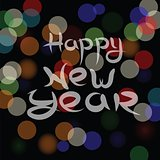 new year blurred background