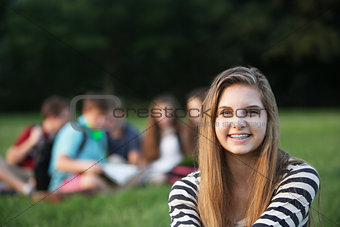 Single Teen Smiling