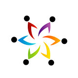 People together showing unity- business logo