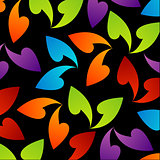 rainbow colored background with leaves