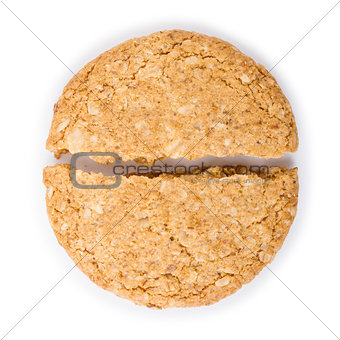 Break up cookies isolated on white