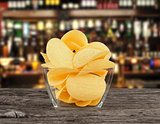 The image of the potato chips in bowl