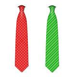 Plaid, checkered silk ties template. Easy editable colors - vector.