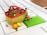 food basket on keyboard
