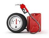 Petrol station in wheel