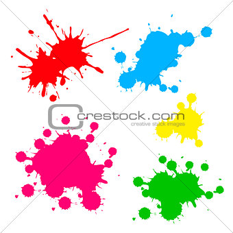 paint splash isolated on white . photo