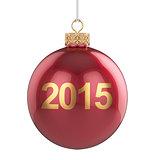 2015 christmas ball isolated
