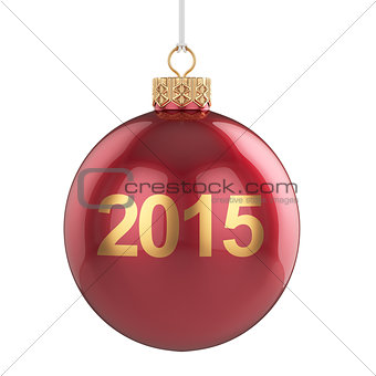 2015 christmas ball isolated
