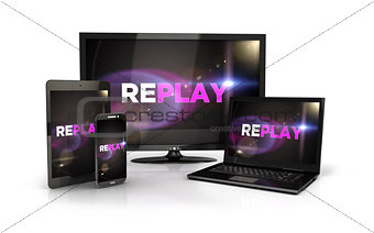 3d replay screen on computer devices