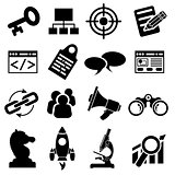 SEO Business Icon Set