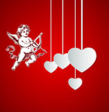 Background with Cupid for Valentine's day