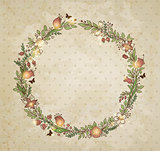 Decorative hand drawn floral frame
