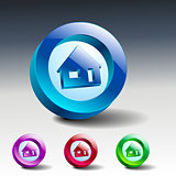 Real estate concept. Small house - Vector icon