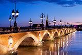 The Pont de pierre in Bordeaux