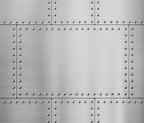 metal plates with rivets background