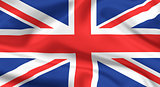 Flag of The United Kingdom. Union jack or Union flag.