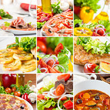 European food collage