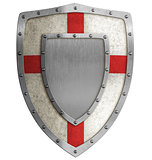 medieval crusader shield illustration