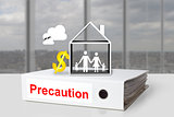 office binder family house symbol precaution dollar symbol