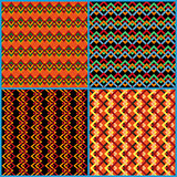 Four seamless patterns on ethnic motifs