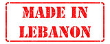 Made in Lebanon on Red Stamp.