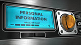 Personal Information on Vending Machine.