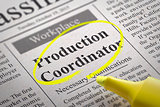 Production Coordinator Jobs in Newspaper.