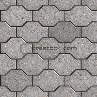 Gray Wavy Paving Slabs.