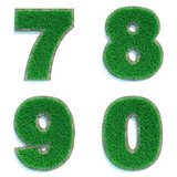 Digits 7, 8, 9, 0 of Green Lawn.