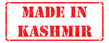 Made in Kashmir on Red Stamp.