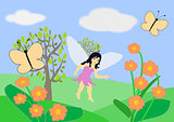Fairy and Butterflies