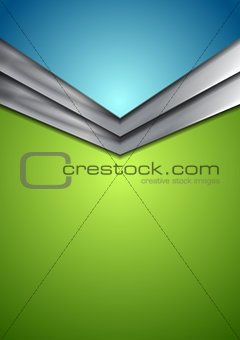 Abstract corporate modern background with arrow