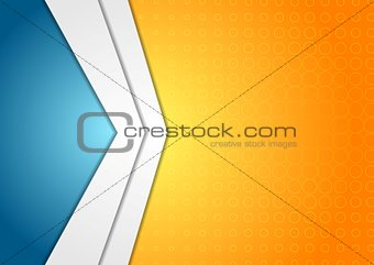 Abstract corporate arrows background