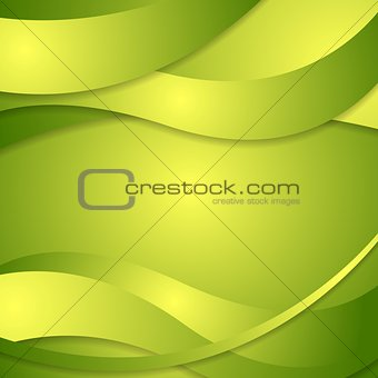 Abstract corporate green waves background