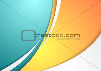 Abstract colorful corporate waves background