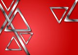 Abstract tech geometry metallic triangles background