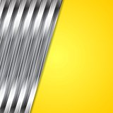 Abstract yellow and metallic background