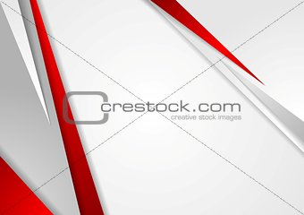 Grey and red corporate technology design
